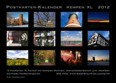 Übersicht Postkartenkalender 2012 XL