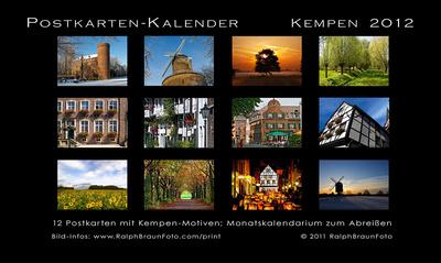 Übersicht Postkarten-Kalender 2012 klein